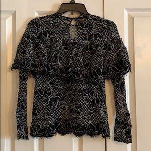 Zara black lace top